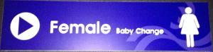 female baby change