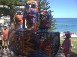 picture of mosaic sculpture by the sea